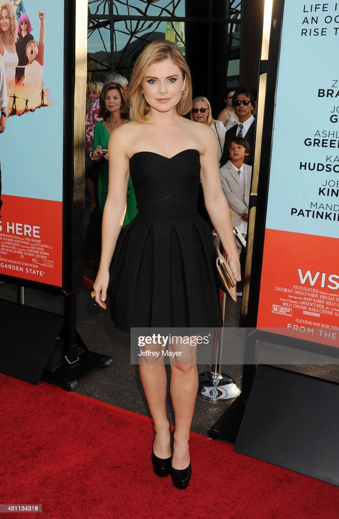 Actress Rose McIver attends the 'Wish I Was Here' Los Angeles premiere on June 23, 2014 at the DGA Theater in Los Angeles, California.