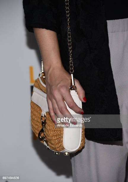 Actress Rose McIver handbag detail attends the 2017 Los Angeles Film Festival 'Sun Dogs' premiere at the ArcLight Santa Monica on June 18 2017 in...