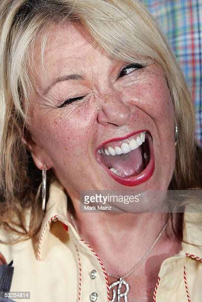 Actress Roseanne attends the DVD launch of 'Roseanne Season One' July 18 2005 at Lucky Strike Bowling Centre in Los Angeles California