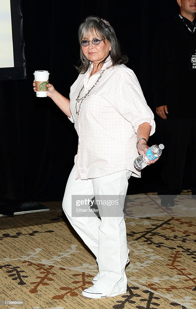 Actress <a gi-track='captionPersonalityLinkClicked' href=/galleries/search?phrase=Roseanne+Barr&family=editorial&specificpeople=228388 ng-click='$event.stopPropagation()'>Roseanne Barr</a> attends Comedy Legends of TV Land during Comic-Con International 2013 at the Hilton San Diego Bayfront Hotel on July 18, 2013 in San Diego, California.