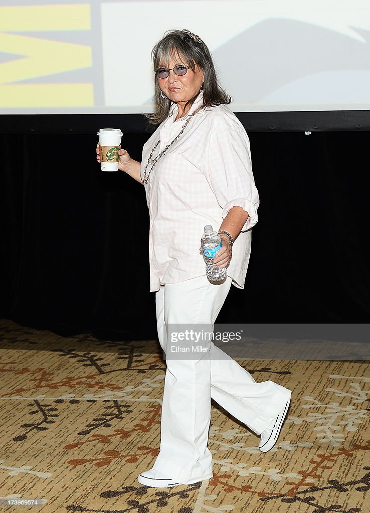 Actress <a gi-track='captionPersonalityLinkClicked' href=/galleries/search?phrase=Roseanne+Barr&family=editorial&specificpeople=228388 ng-click='$event.stopPropagation()'>Roseanne Barr</a> attends Comedy Legends of TV Land panel during Comic-Con International 2013 at the Hilton San Diego Bayfront Hotel on July 18, 2013 in San Diego, California.