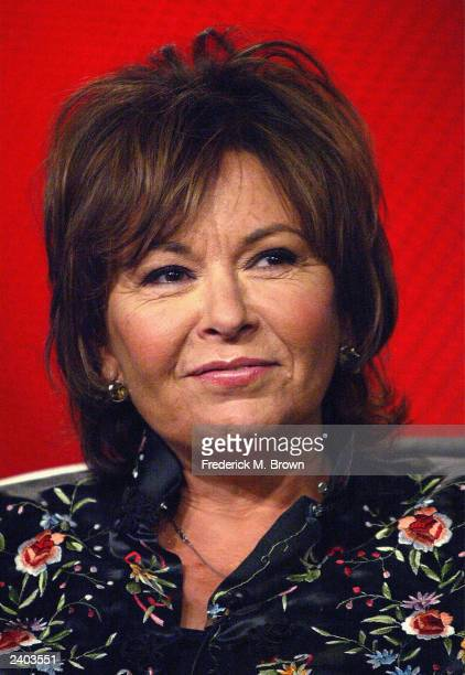 Actress Roseanne Barr attends the ABC Summer Press Tour at the Hollywood Renaissance Hotel July 14 2003 in Hollywood California Barr is expected to...