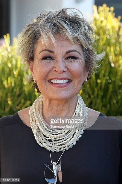 Actress Roseanne Barr attends the photo call for Roseanne Barr's 'Roseanne For President' at Sundance Sunset Cinema on July 1 2016 in Los Angeles...
