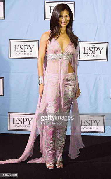 Actress Roselyn Sanchez poses backstage at the 12th Annual ESPY Awards held at the Kodak Theatre on July 14 2004 in Hollywood California
