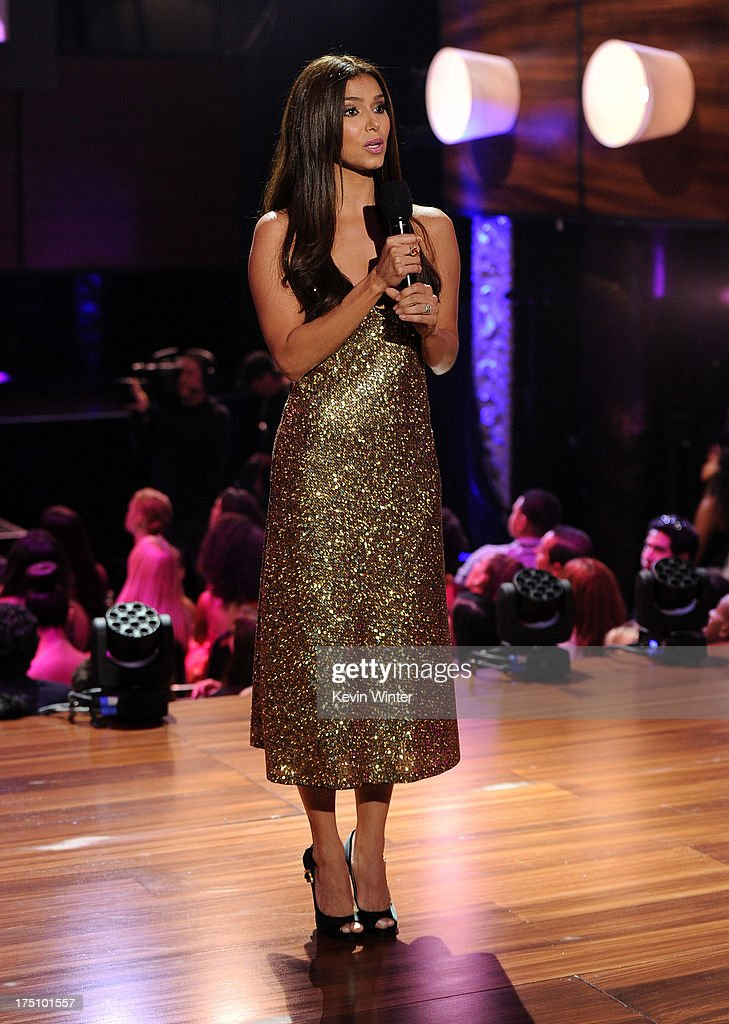 Actress <a gi-track='captionPersonalityLinkClicked' href=/galleries/search?phrase=Roselyn+Sanchez&family=editorial&specificpeople=202260 ng-click='$event.stopPropagation()'>Roselyn Sanchez</a> speaks onstage at the DoSomething.org and VH1's 2013 Do Something Awards at Avalon on July 31, 2013 in Hollywood, California.