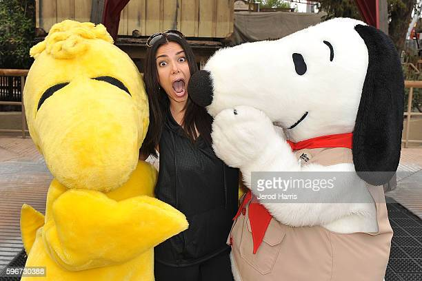 Actress Roselyn Sanchez visits Camp Snoopy at Knott's Berry Farm on August 27 2016 in Buena Park California
