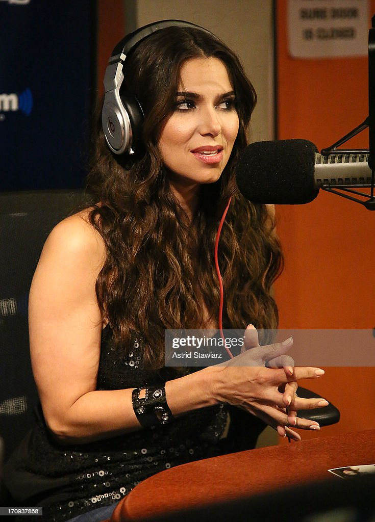 Actress Roselyn Sanchez visits 'Sway in the Morning' on Eminem's Shade 45 channel' at SiriusXM Studios on June 20, 2013 in New York City.