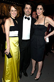 Actress Rosemarie DeWitt actor Ron Livingston and actress/comedienne Sarah Silverman attend the 2015 Vanity Fair Oscar Party hosted by Graydon Carter...