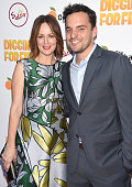 Actress Rosemarie DeWitt and Actor Jake Johnson pose for portrait at Sabra Dipping Co Presents The Los Angeles Premiere Of The Orchard's 'Digging For...