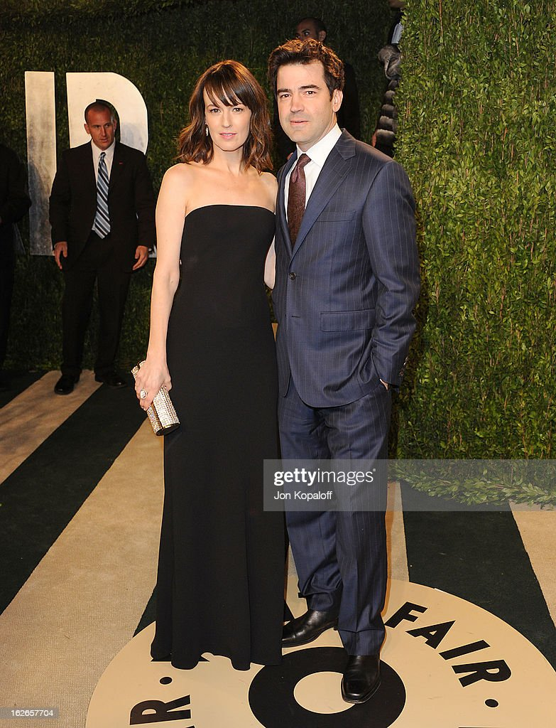 Actress Rosemarie DeWitt and actor Ron Livingston attend the 2013 Vanity Fair Oscar party at Sunset Tower on February 24, 2013 in West Hollywood, California.