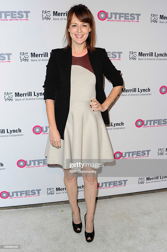 Actress Rosemarie DeWitt arrives at the 2015 Outfest Legacy Awards at Vibiana on November 5 2015 in Los Angeles California