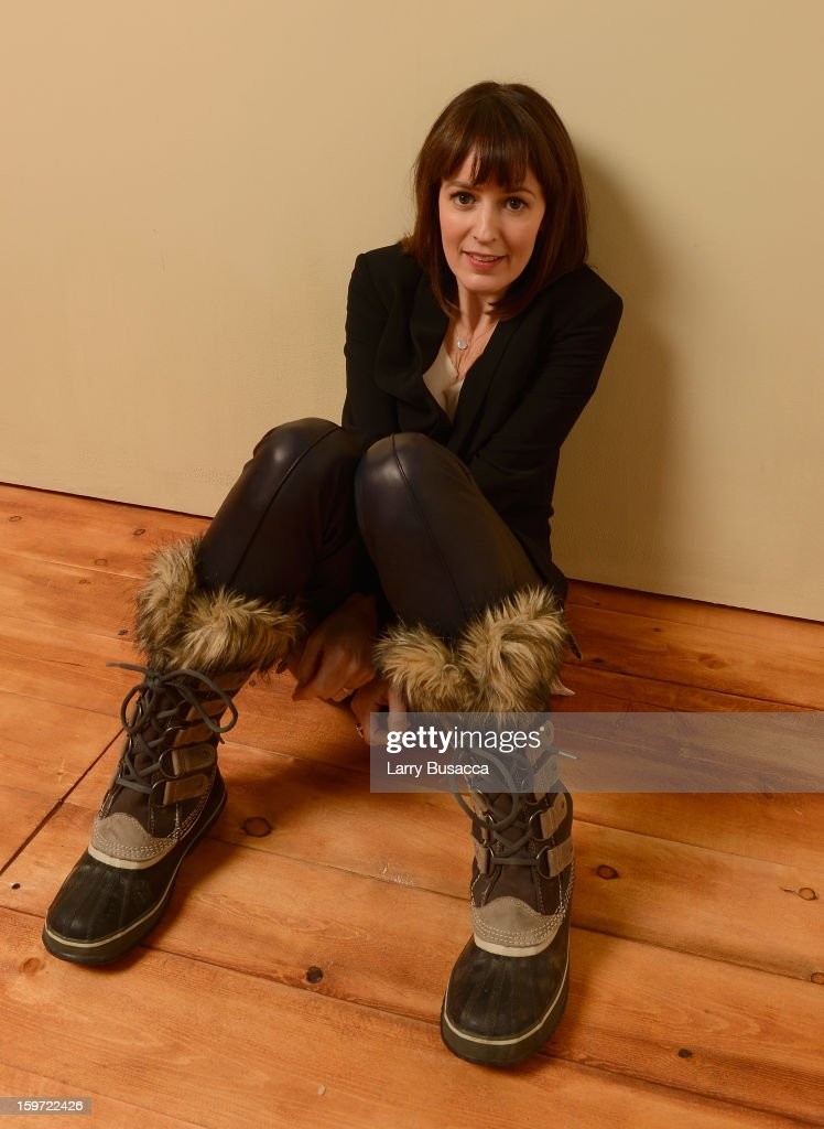 Actress <a gi-track='captionPersonalityLinkClicked' href=/galleries/search?phrase=Rosemarie+DeWitt&family=editorial&specificpeople=630212 ng-click='$event.stopPropagation()'>Rosemarie DeWitt</a> poses for a portrait during the 2013 Sundance Film Festival at the Getty Images Portrait Studio at Village at the Lift on January 19, 2013 in Park City, Utah.