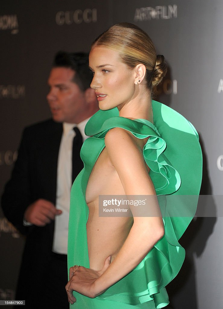Actress Rosie Huntington-Whiteley arrives at LACMA 2012 Art + Film Gala at LACMA on October 27, 2012 in Los Angeles, California.