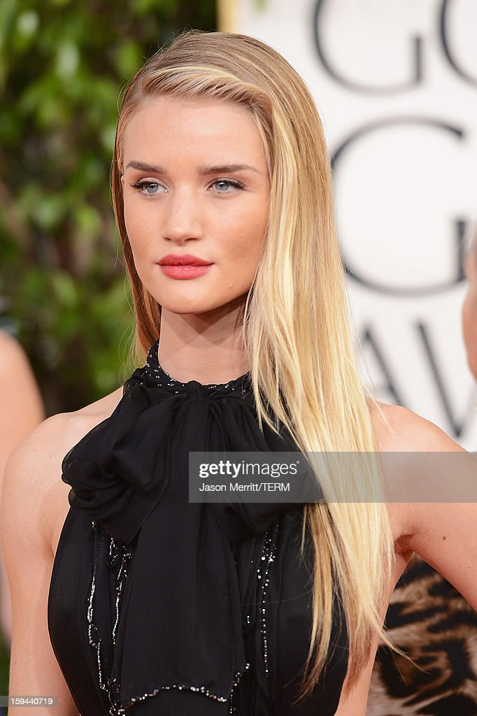 Actress Rosie Huntington-Whiteley arrives at the 70th Annual Golden Globe Awards held at The Beverly Hilton Hotel on January 13, 2013 in Beverly Hills, California.