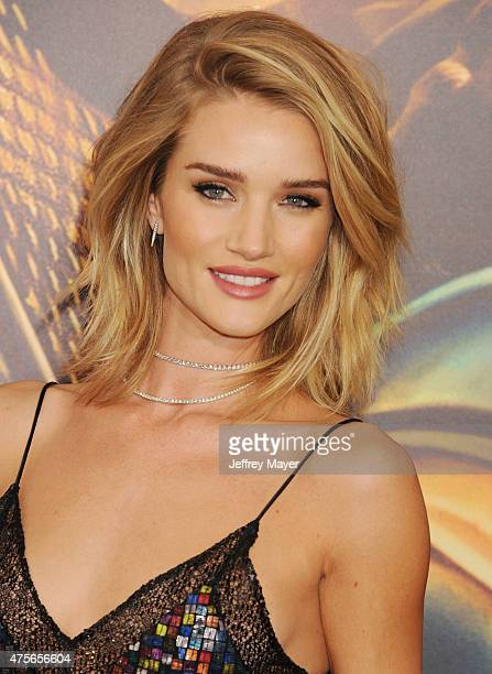 Actress Rosie HuntingtonWhiteley arrives at the 'Mad Max Fury Road' Los Angeles Premiere at TCL Chinese Theatre IMAX on May 7 2015 in Hollywood...
