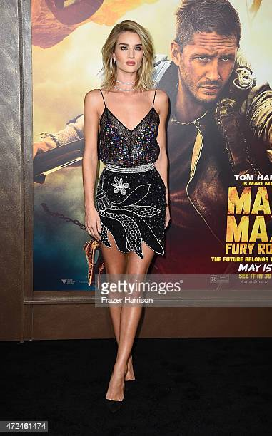 Actress Rosie HuntingtonWhiteley arrives at the Premiere Of Warner Bros Pictures' 'Mad Max Fury Road' at TCL Chinese Theatre on May 7 2015 in...