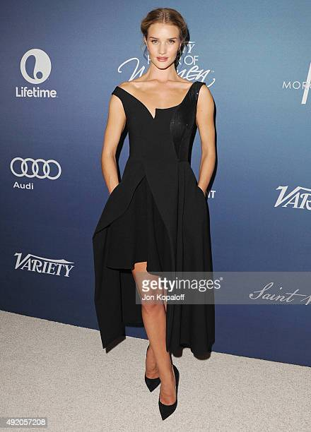 Actress Rosie HuntingtonWhiteley arrives at Variety's Power Of Women Luncheon at the Beverly Wilshire Four Seasons Hotel on October 9 2015 in Beverly...