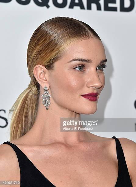 Actress Rosie HuntingtonWhiteley attends amfAR's Inspiration Gala Los Angeles at Milk Studios on October 29 2015 in Hollywood California