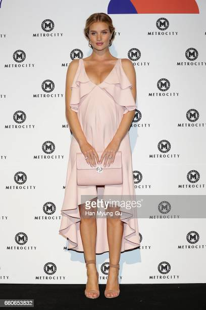 Actress Rosie HuntingtonWhiteley attends the photo call for the 'Metrocity' HERA Seoul Fashion Week F/W 2017 at DDP on March 30 2017 in Seoul South...