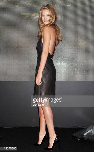 Actress Rosie HuntingtonWhiteley attends the 'Transformers Dark of the Moon' press conference at the St Regis Hotel Osaka on July 16 2011 in Osaka...