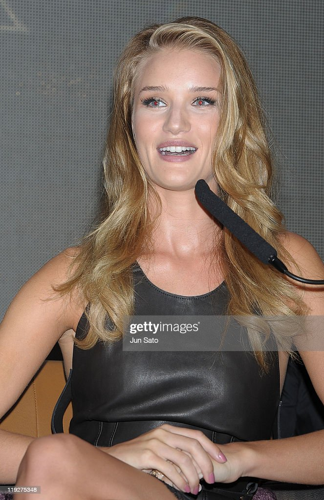 Actress <a gi-track='captionPersonalityLinkClicked' href=/galleries/search?phrase=Rosie+Huntington-Whiteley&family=editorial&specificpeople=2244343 ng-click='$event.stopPropagation()'>Rosie Huntington-Whiteley</a> attends the 'Transformers: Dark of the Moon' press conference at the St. Regis Hotel Osaka on July 16, 2011 in Osaka, Japan. The film will open on July 29 in Japan.