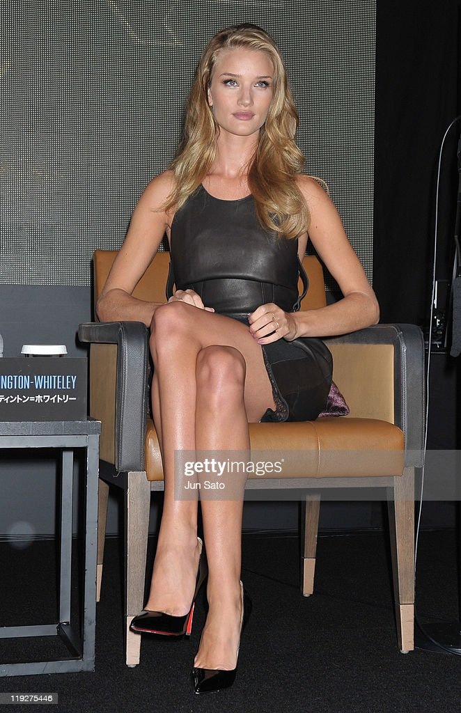 Actress Rosie Huntington-Whiteley attends the 'Transformers: Dark of the Moon' press conference at the St. Regis Hotel Osaka on July 16, 2011 in Osaka, Japan. The film will open on July 29 in Japan.