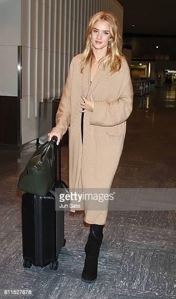 Actress Rosie HuntingtonWhiteley is seen upon arrival at Narita International Airport on September 30 2016 in Narita Japan