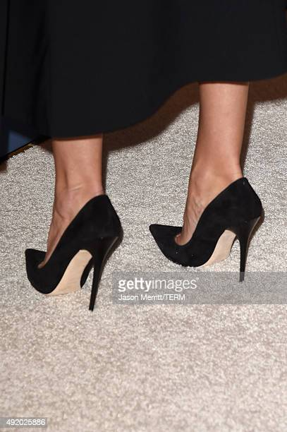 Actress Rosie HuntingtonWhiteley shoe detail attends Variety's Power Of Women Luncheon at the Beverly Wilshire Four Seasons Hotel on October 9 2015...