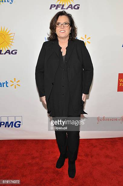 Actress Rosie O'Donnell attends PFLAG National's eighth annual Straight for Equality awards gala at Marriot Marquis on April 4 2016 in New York City