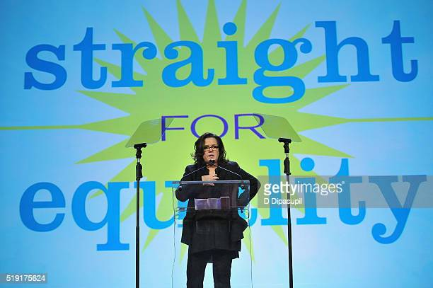 Actress Rosie O'Donnell speaks onstage at PFLAG National's eighth annual Straight for Equality awards gala at Marriot Marquis on April 4 2016 in New...