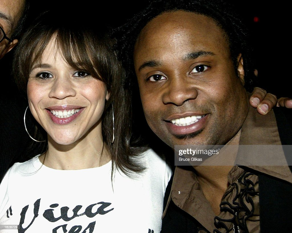 Actress Rosie Perez and 'Baby' star Billy Porter stand backstage at the Public Theater Benefit Celebration of 'Radiant Baby', the Keith Haring musical ... - actress-rosie-perez-and-baby-star-billy-porter-stand-backstage-at-the-picture-id1828729