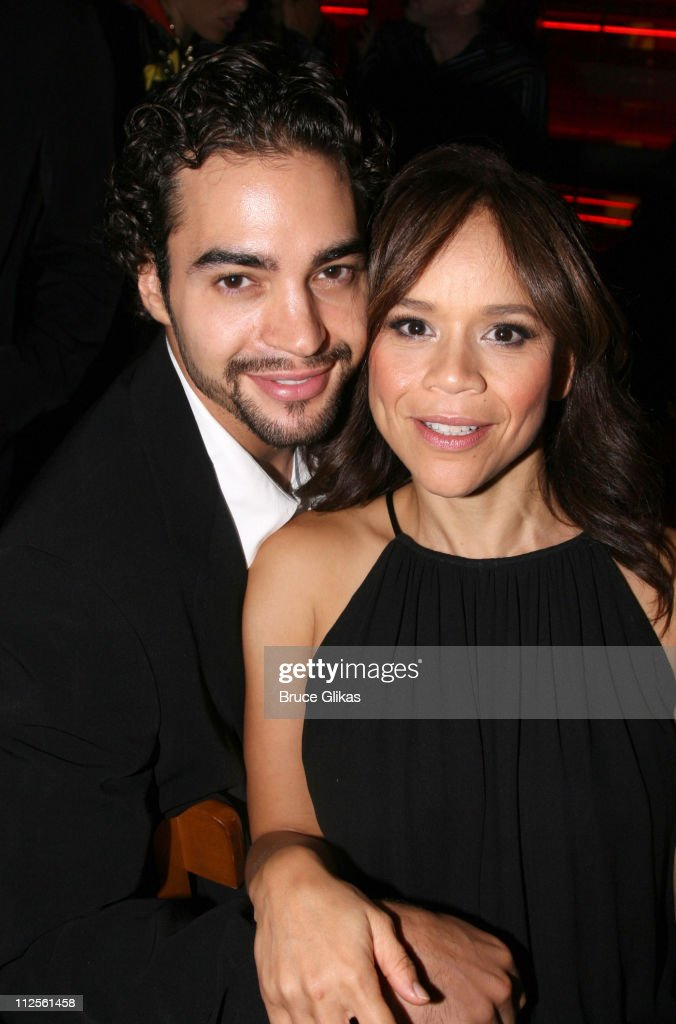 Actress <a gi-track='captionPersonalityLinkClicked' href=/galleries/search?phrase=Rosie+Perez&family=editorial&specificpeople=171833 ng-click='$event.stopPropagation()'>Rosie Perez</a> and boyfriend Actor <a gi-track='captionPersonalityLinkClicked' href=/galleries/search?phrase=Ramon+Rodriguez&family=editorial&specificpeople=73608 ng-click='$event.stopPropagation()'>Ramon Rodriguez</a> pose on Opening Night Of 'The Ritz' on Broadway at Planet Hollywood in New York City on October 11, 2007 in New York City.