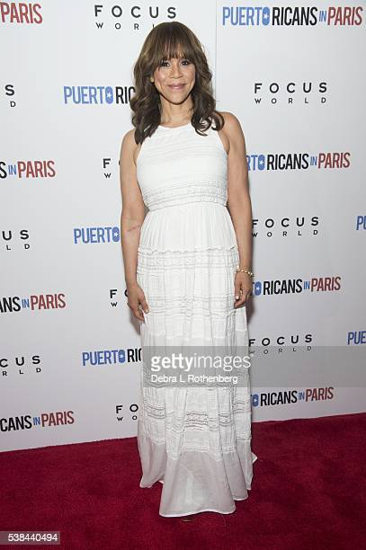 Actress Rosie Perez attends the New York Screening of 'Puerto Ricans In Paris' at Landmark's Sunshine Cinema on June 6 2016 in New York City