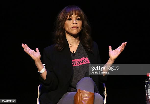 Actress Rosie Perez attends the Tribeca Daring Women Summit during the 2016 Tribeca Film Festival at Spring Studios on April 19 2016 in New York City