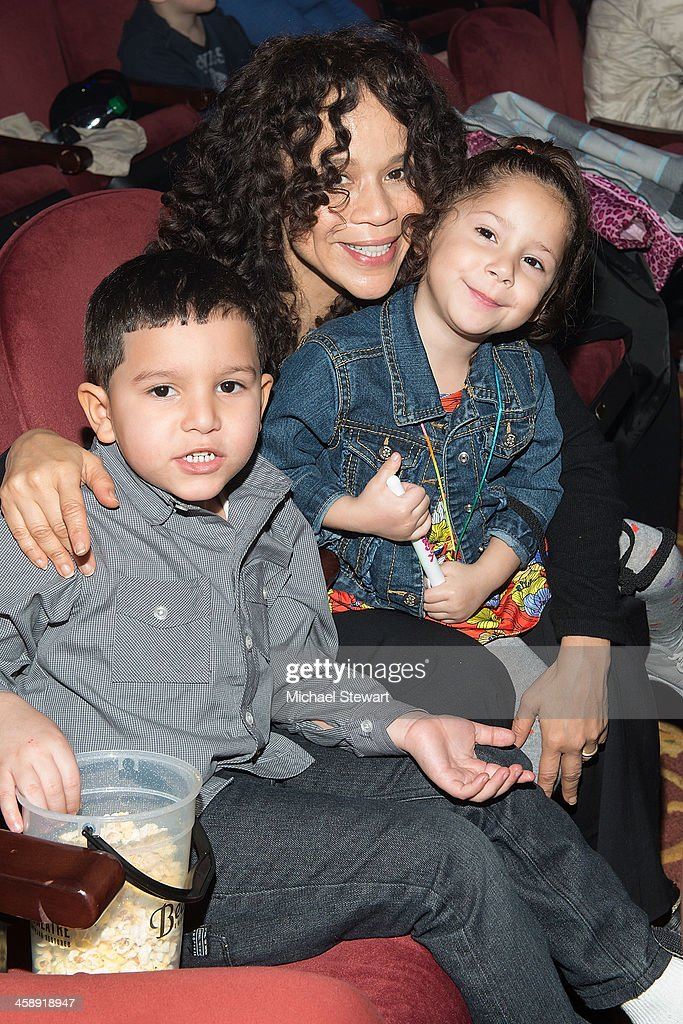 Actress Rosie Perez (L) with children attend 'Yo Gabba Gabba! Live!' at The Beacon Theatre on December 22, 2013 in New York City.