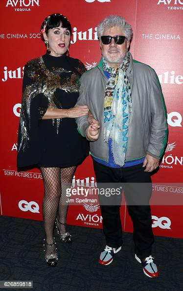 Actress Rossy de Palma and director Pedro Almodovar attend the screening of Sony Pictures Classics' 'Julieta' hosted by The Cinema Society with Avion...