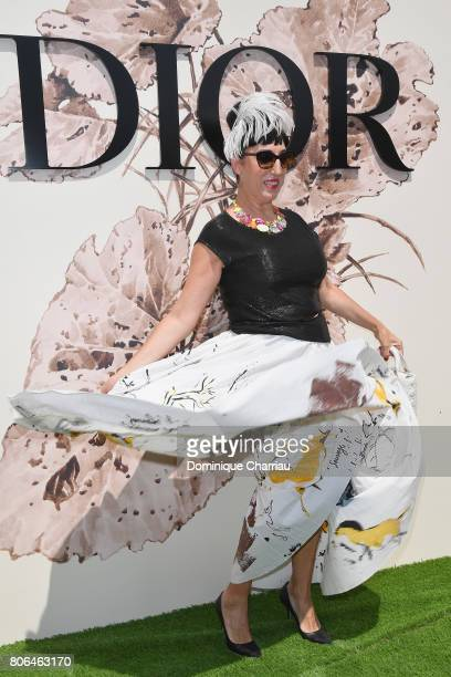 Actress Rossy de Palma attends the Christian Dior Haute Couture Fall/Winter 20172018 show as part of Haute Couture Paris Fashion Week on July 3 2017...