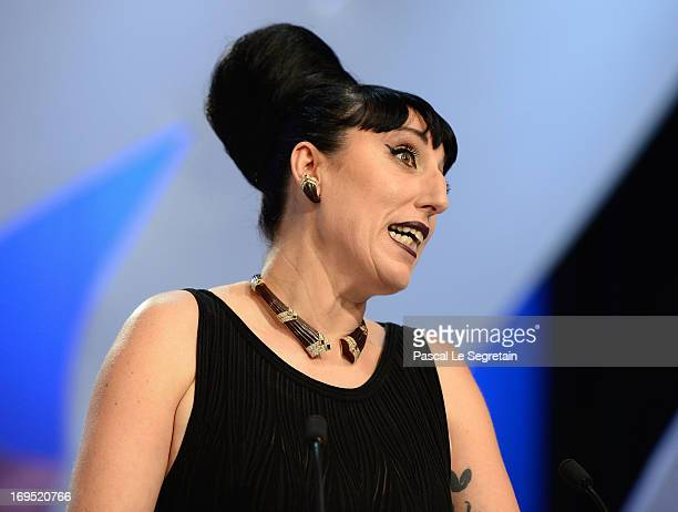 Actress Rossy de Palma attends the Inside Closing Ceremony during the 66th Annual Cannes Film Festival at the Palais des Festivals on May 26 2013 in...