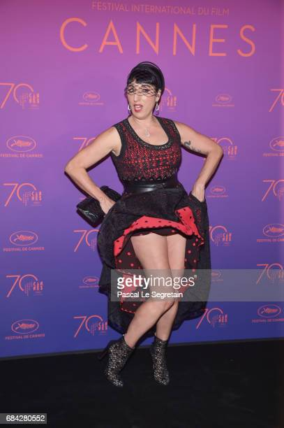 Actress Rossy de Palma attends the Opening Gala Dinner during the 70th annual Cannes Film Festival at Palais des Festivals on May 17 2017 in Cannes...