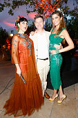 Actress Rossy de Palma Cartier International CEO Cyrille Vigneron and Bianca Brandolini attend the 'Cactus' Cartier Cocktail Party at Palais De Tokyo...