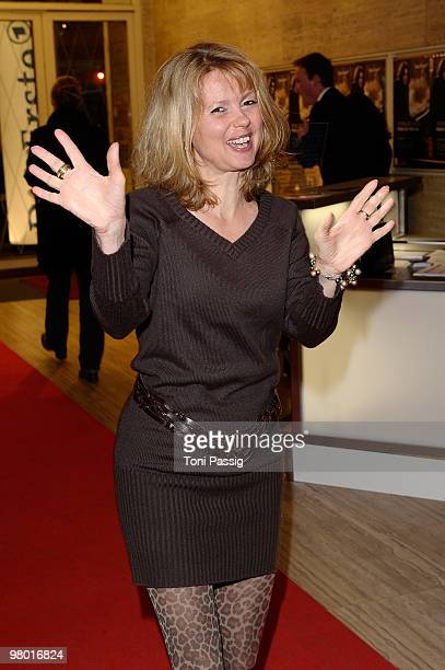 Actress Roswitha Schreiner attends the premiere of 'Haltet Die Welt An' at Astor Film Lounge on March 24 2010 in Berlin Germany