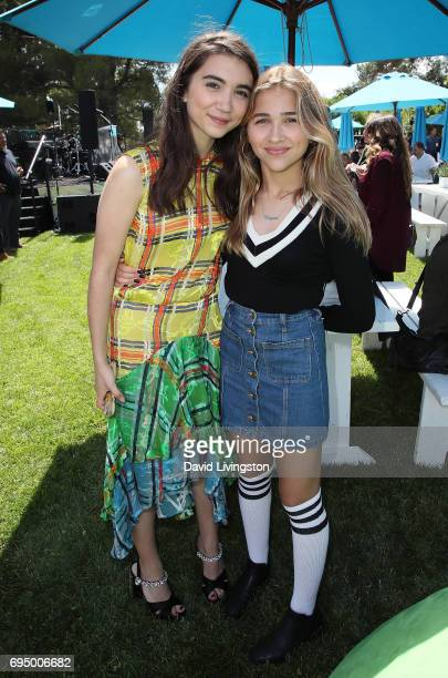 Actress Rowan Blanchard and sister Carmen Blanchard attend Children Mending Hearts 9th Annual Empathy Rocks Fundraiser at a private residence on June...