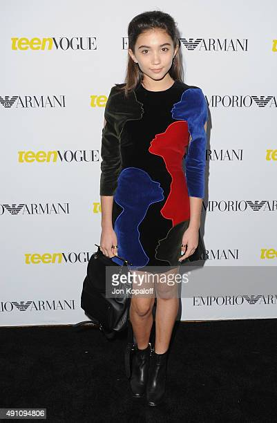 Actress Rowan Blanchard arrives at Teen Vogue's 13th Annual Young Hollywood Issue Launch Party on October 2 2015 in Los Angeles California