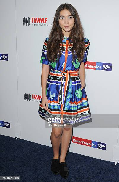 Actress Rowan Blanchard arrives at the International Women's Media Foundation Courage Awards at the Beverly Wilshire Four Seasons Hotel on October 27...