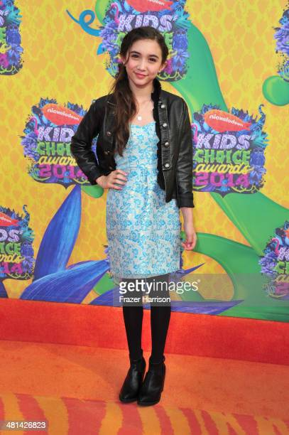 Actress Rowan Blanchard attends Nickelodeon's 27th Annual Kids' Choice Awards held at USC Galen Center on March 29 2014 in Los Angeles California