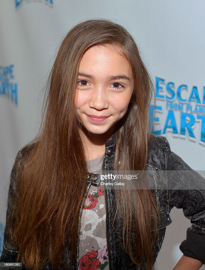 Actress Rowan Blanchard attends the 'Escape From Planet Earth' premiere presented by The Weinstein Company in partnership with Sabra at Mann Chinese 6 on February 2, 2013 in Los Angeles, California.