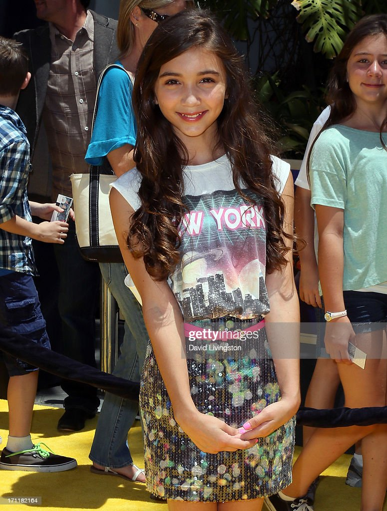 Actress Rowan Blanchard attends the premiere of Universal Pictures' 'Despicable Me 2' at the Gibson Amphitheatre on June 22, 2013 in Universal City, California.