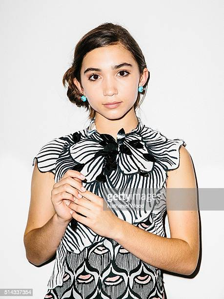 Actress Rowan Blanchard is photographed for Teen Vogue Magazine on August 4 2015 in Los Angeles California