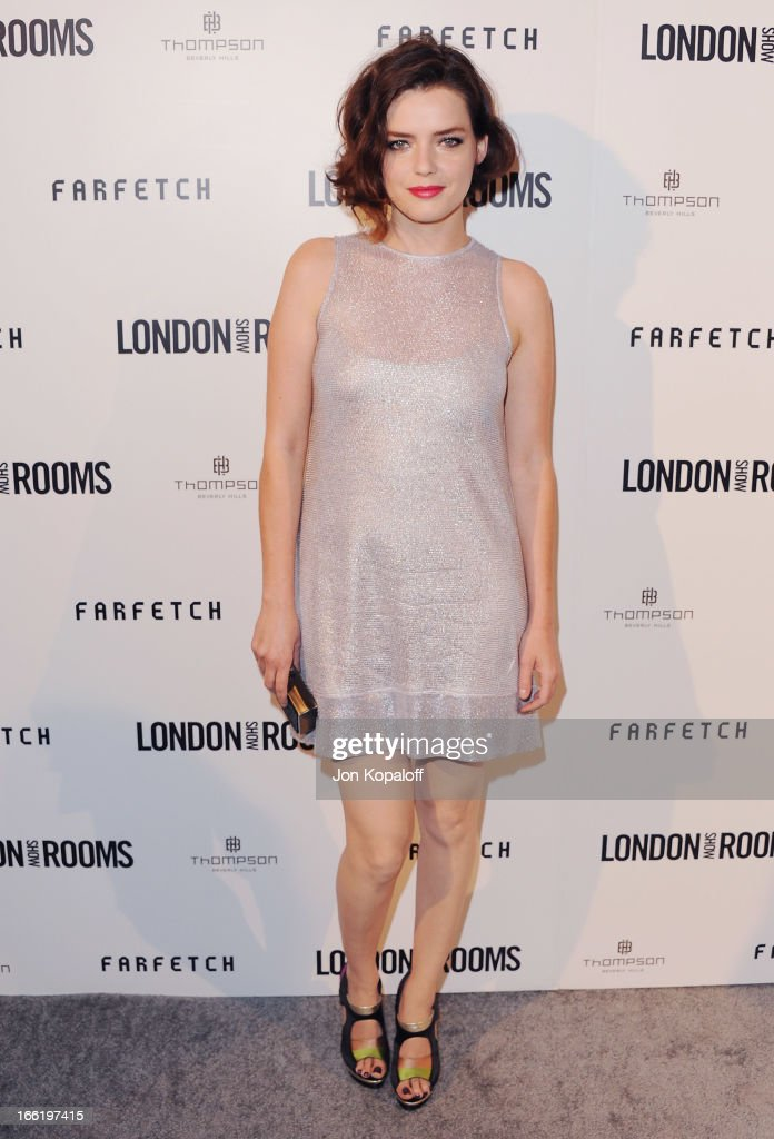 Actress Roxane Mesquida arrives at the British Fashion Council Celebrates 'London Show Rooms LA' at Thompson Hotel on April 9, 2013 in Beverly Hills, California.