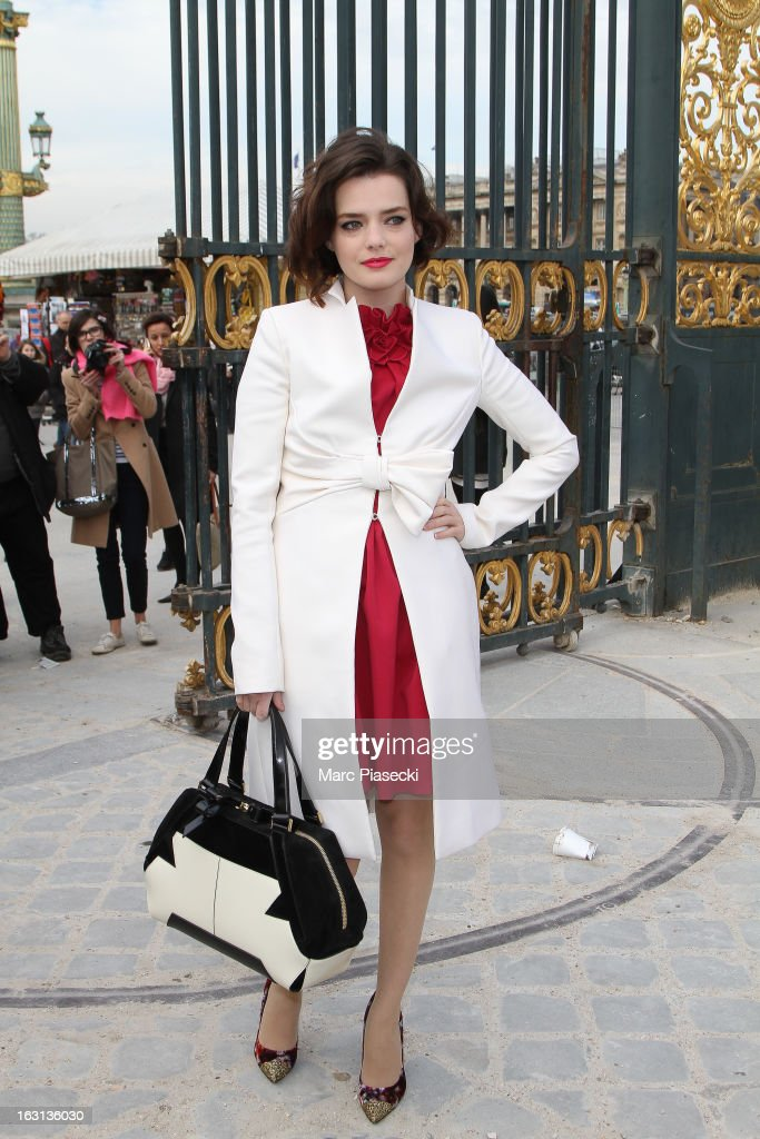 Actress Roxane Mesquida arrives to attend the 'Valentino' Fall/Winter 2013 Ready-to-Wear show as part of Paris Fashion Week on March 5, 2013 in Paris, France.